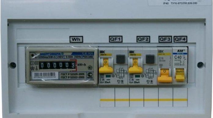 электрический щиток 220,380В