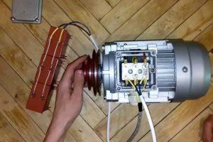 ёмкость конденсатора для пуска трёх фазного двигателя