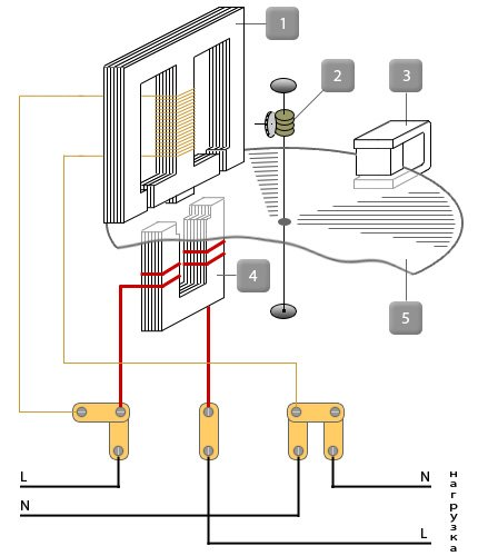 схема однофазного индукционного счётчика